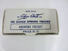 Vintage Silver Streak Andrews Ho Scale Freight Trucks Pair Sprung & Equalized