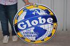 "Large Globe The Universal Gasoline Gas Station 30"" Porcelain Metal Sign"