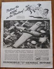 Hitler Kicked in the  Butt by a Mustang, P-51  WWII Ad