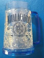 US NAVAL ACADEMY SCIENTIA ANNAPOLIS FROSTED CRYSTAL LOOK BEER MUG * NEW * NAVY!!