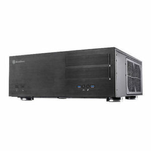Silverstone GD08B (Black) Grandia Extended ATX Aluminum Front HTPC Case