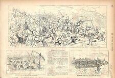 Guerre des Balkans Tirnova Veliko Tarnovo Bulgarie/ Empire Ottoman GRAVURE 1877