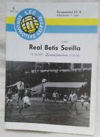 Programm Uefa Cup 1.FC Lok Leipzig Real Betis Sevilla 19.10.1977 DDR Oberliga