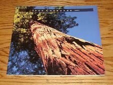 Original 2001 Jeep Cherokee Deluxe Sales Brochure 01
