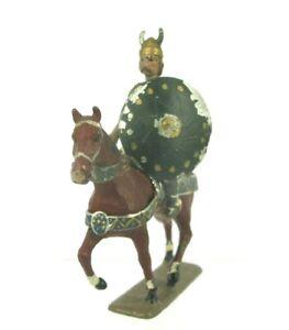 Antique Mignot Gerbeau 75mm Lead Toy Soldier Ancient Gaul Vercingetorix on Horse