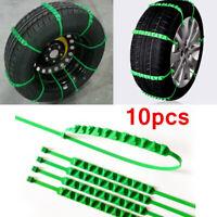 10pcs Off Road Car Wheel Anti Skid Snow Tire Chain Nylon Strap Belt Universal