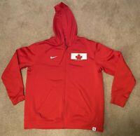 Nike Team Canada Therma-Fit Hoody Sweatshirt  Red XL - Fleece Lined
