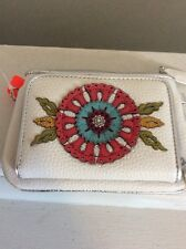Brighton RARE Garden Girl Medium Leather Wallet Crossbody Bn3d
