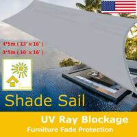 13' x 16' Square Sun Shade Sail Top Waterproof Patio Awning Canopy Patio Outdoor