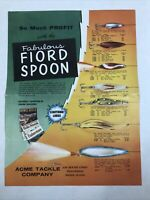 1950s ACME TACKLE COMPANY FABULOUS FIORD SPOON Fishing Lure Wholesale Brochure