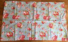 Cath Kidston For IKEA 1 Housewife Pillowcase Rosali Rose Blue Cotton New