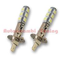 COPPIA LAMPADE LAMPADINE FENDINEBBIA H1 P14,5S 13 LED 5050 SMD BIANCA 6000K
