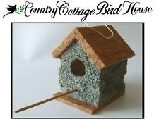 COUNTRY COTTAGE CABIN Resin Plaster BIRDHOUSE Tree Hanging LITTLE HOUSE Prairie