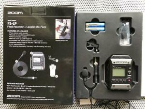 ZOOM F1-LP Field Recorder + Lavalier Mic Pack Digital Handy Recorder New in Box