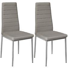 Set di 2 sedia per sala da pranzo tavolo cucina eleganti moderne robusto grigio