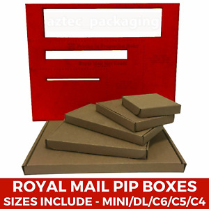 Small Postage - Qualify as Large Letter - C4 C5 C6 Quality Brown Cardboard Box