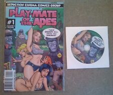 Play-Mate Of The Apes Misty Mundae DVD & Comic Book NEW Adult Seduction Cinema