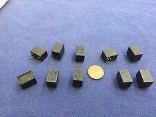 10 Pieces BLACK  Miniature PCB Relay JRC-21F 4100 DC 12V 6 Pins A5