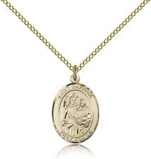 "Saint Raphael The Archangel Medal For Women - Gold Filled Necklace On 18"" Cha..."