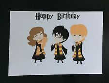 Harry Potter Party Birthday Card Trio