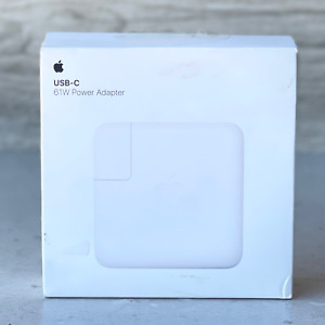 Apple MRW22LL/A 61W USB-C Power Adapter Genuine OEM - NEW OPEN
