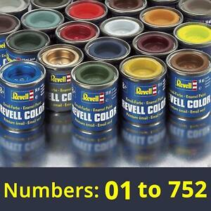 Revell 14ml Enamel Paints Numbers: 01 to 752 | THE COMPLETE FULL COLLECTION
