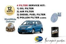 FOR HONDA FRV 2.2 CDTi 6/2005->  SERVICE KIT OIL AIR FUEL POLLEN FILTER ( 4) KIT