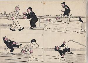 Originalzeichnung Hans Steiner Bringing Up Father / Adamson 20er / 30er Jahre
