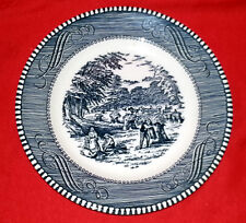ROYAL China Jeannette CURRIER & IVES - BLUE pattern Bread & Butter Plate 6 1/4""