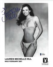 Lauren Michelle Hill Signed Playboy 8x10 Photo BAS Beckett COA Headshot Picture