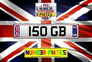 150 GB, Dateless, GREAT BRITAIN, Cherished Number, Private Plate, George, Gary