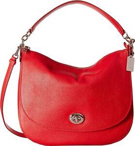 COACH Women's Pebbled Turnlock Hobo - MSRP $248
