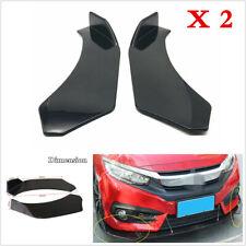 2x Black Car Front Bumper Splitter Lip Body Spoiler Wings Protector Diffuser Kit