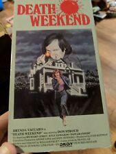 Death Weekend 1976 VHS Don Stroud Brenda Vaccaro HTF VESTRON Revenge Action!!!