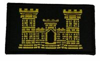 US ARMY ENGINEER CASTLE 2 PIECE PATCH HOOK AND LOOP BACKING ESSAYONS 12B