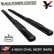 "Fits 1999-2013 CHEVY SILVERADO GMC SIERRA CREW CAB 4"" Oval Nerf Bar Side Step"