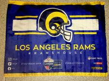 LA RAMS NFL WEMBLEY STADIUM , LONDON, ENGLAND 2019 FAN FLAG