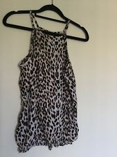 Womens Leopard Print Top Size XS Cotton On