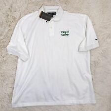 NIKE Golf Polo Shirt Men Size XL *Dri-Fit *White $40