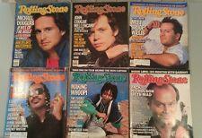 ROLLING STONE Magazine Lot of 6 Michael Douglas Bruce Willis Stevie WonderWhoopi