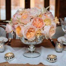 1 x Antique Silver Footed Bowl - Mercury Silver Vase Wedding Centrepiece