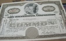 Coty International Corp. 1949 OLD CANCELED stock CERTIFICATE