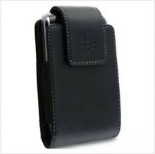 BLACK LEATHER CASE COVER SWIVEL BELT CLIP HOLSTER for BLACKBERRY CELL PHONES