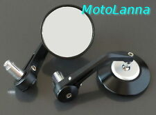 Billet CNC Aly Bar End Mirrors Black Silver Yamaha SR500 XS650 CB750 Cafe Racer