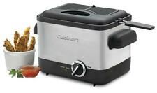 New Cuisinart Cdf-100 Compact 1.1-Liter Deep Fryer Cooker Brush Stainless Steel