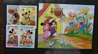 Grenada Grenadines 1985 Grimm Brothers Walt Disney set & Miniature Sheet MNH