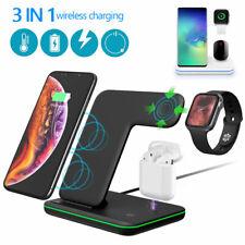 3 in 1 Stand Ladestation für iPhone Induktive Qi Ladegerät Wireless Charger