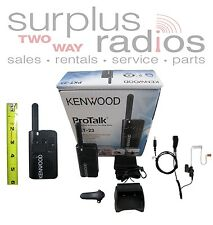 KENWOOD PROTALK LT PKT-23 UHF 4CH RADIO ULTRA LIGHTWEIGHT & COMPACT WITH HEADSET