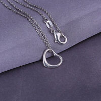 New Wholesale 925 Sterling Silver Filled Cute Heart Pendant With Necklace 18''