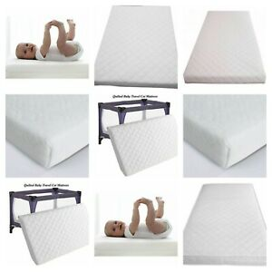 New Extra Thick Baby Travel Cot Mattress Fully Breathable With Quilted Cover UK